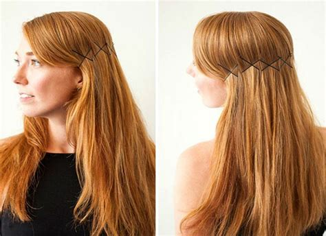 easy hairstyles bobby pins image gallery hairstyles with hair pins