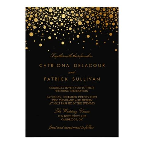 Wedding Invitations Black And Gold by 30 000 Black And Gold Invitations Black And Gold
