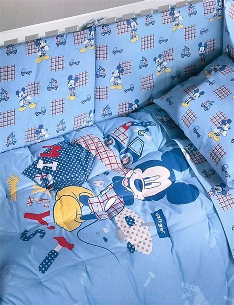 Copriletto Lettino by Copriletto Trapuntino Con Paracolpi Mickey Boys