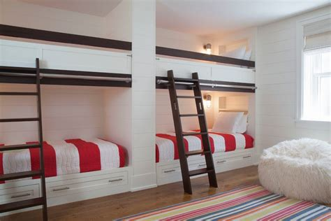 built in wall bunk beds built in bunk bed ideas style with nautical