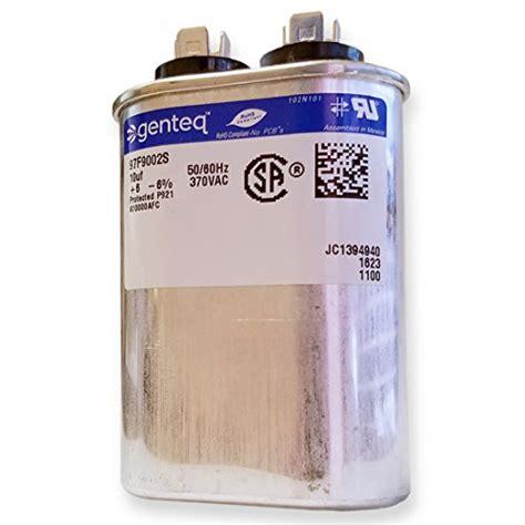 ge genteq capacitor ge genteq capacitor oval 10 uf mfd 370 volt 97f9002 97f9002s replaces ge 97f9002bz3