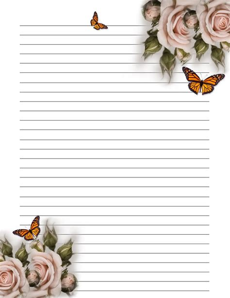 letter writing paper lined paper you can print in high quality loving printable 1453