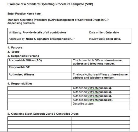 operation template 37 best standard operating procedure sop templates