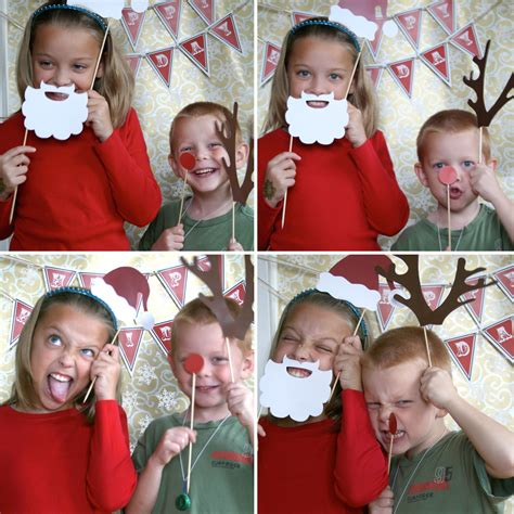 paper and cake holiday photo booth props