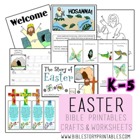 printable children s easter story k 5 bible printables for easter resurrection catholic