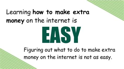Making Extra Money Online - how to make extra money online