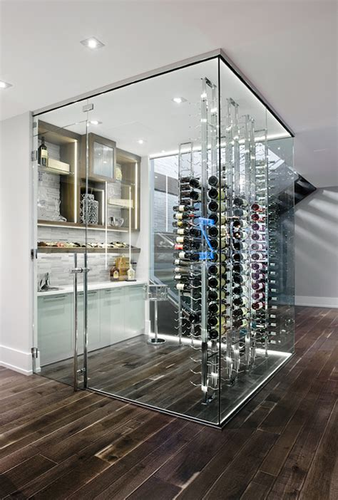 wine cellar glass door creating an all glass wine cellar or room the glass