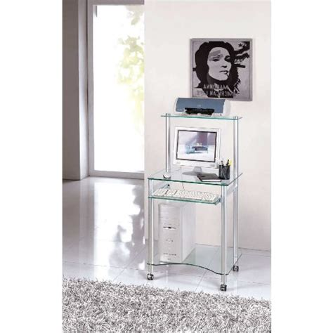 compact glass computer desk buy modern glass computer desk furniture in fashion