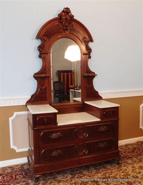 antique marble top dressing table restored antique american victorian walnut marble top