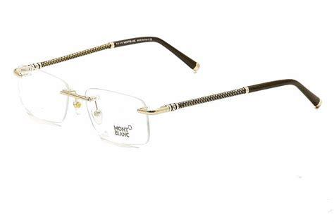mont blanc s eyeglasses mb391 mb 391 rimless optical frame