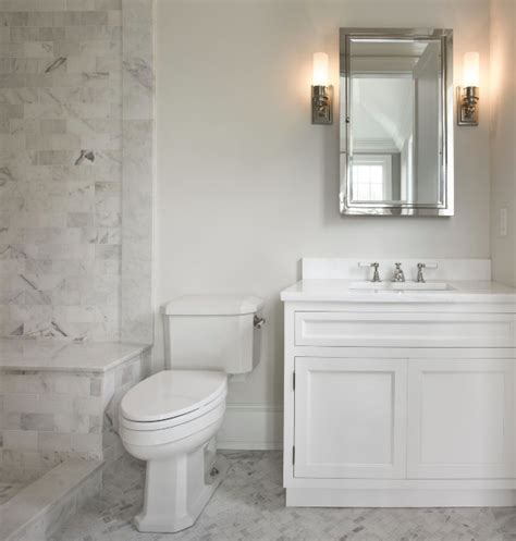 Carerra Marble Bathroom by Marble Tile Shower Transitional Bathroom The