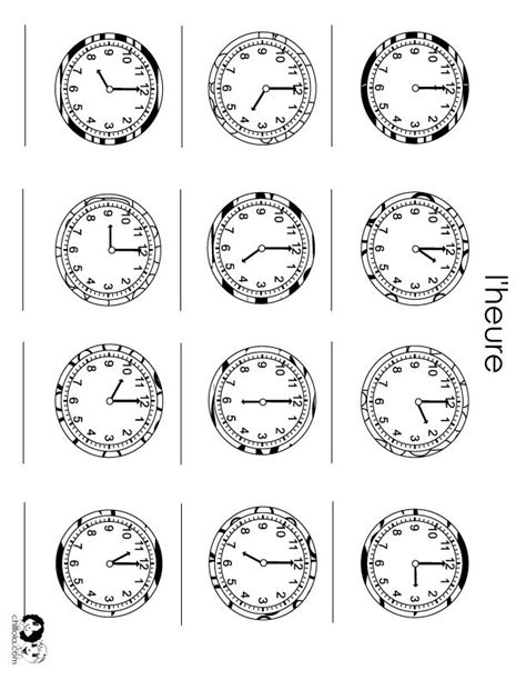 73 best images about clock faces on pinterest bottle cap telling time in french worksheets phoenixpayday com