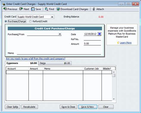 quickbooks tutorial entering credit card charges how to enter credit card charges in quickbooks webucator