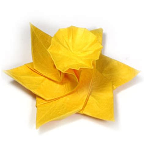 Origami Daffodil - how to make an origami daffodil flower page 24