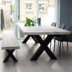 Dining Table Bench Bolt Industrial Wood Dining Table Metal Legs