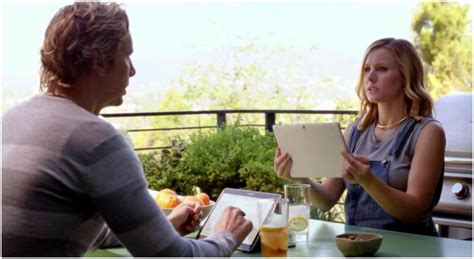 samsung commercial another day another samsung commercial this time kristen bell and dax shepard get the lead