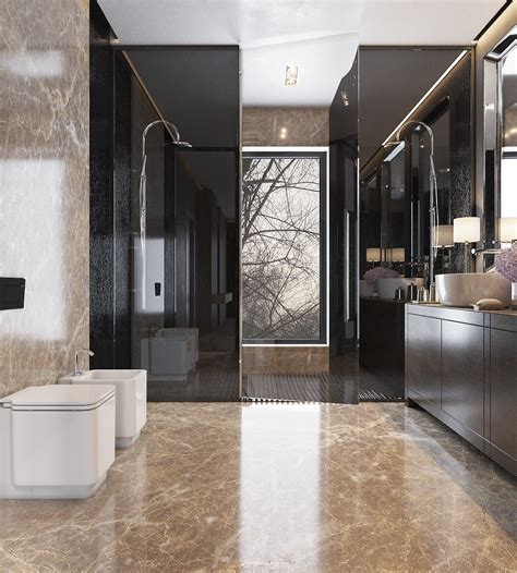 Modern Bathroom Looks Gorgeous Bathroom Design Ideas Looks So Trendy Which Combined With A Tile Decor Roohome