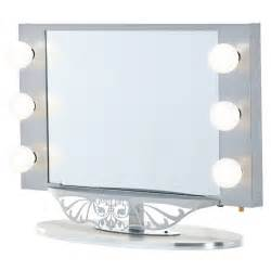 Vanity Mirror With Lights Set Starlet Lighted Vanity Mirror In Simple Frame Design