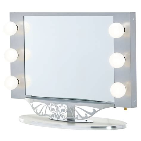 Lit Vanity Mirror starlet lighted vanity mirror in simple frame design