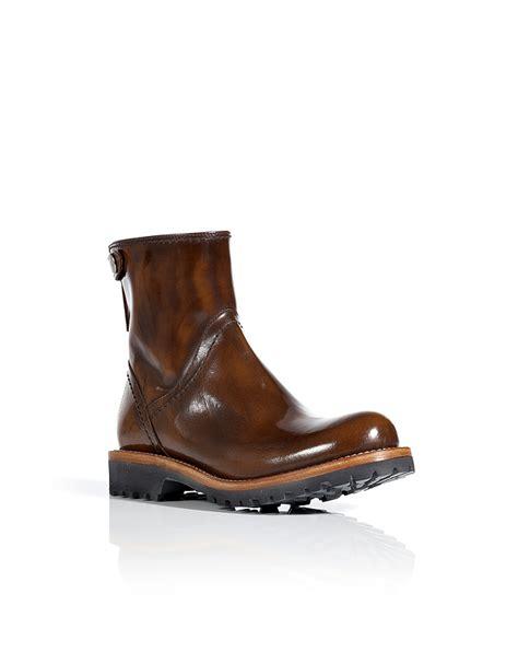 half boots brunello cucinelli hazelnut polished leather half boots