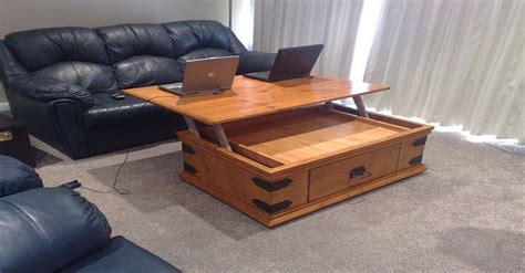 coffee table turns into desk turn your ordinary coffee table into a brilliant laptop desk