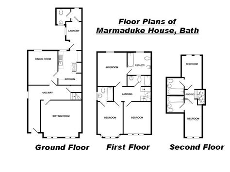 Marmaduke House Holiday Cottage Bath Layout Marmaduke My House Blueprints Uk