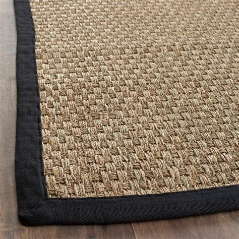 Sisal Rugs by Casual Handwoven Sisal Black Seagrass Rug 8 X 10