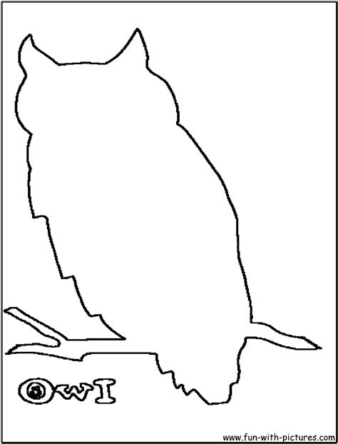 best photos of owl outline template owl template free