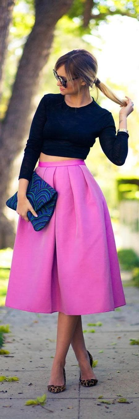 cropped top a line skirt my style