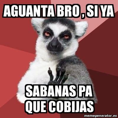Chill Out Bro Meme - meme chill out lemur aguanta bro si ya sabanas pa que