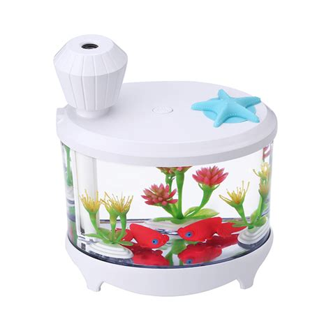 Small Fish Humidifier Usb Charging With Color Led L Humidifier 18 homgeek 460ml fish tank usb humidifiers led light air ultrasonic humidifier essential aroma