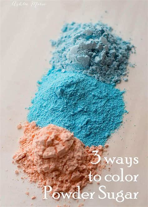 colored powdered sugar 3 ways to color powdered sugar ashlee