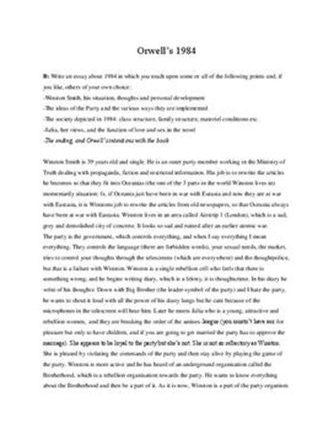 1984 Analysis Essay by 1984 Essay Basilntalclinic Web Fc2