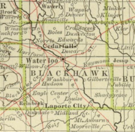 Black Hawk County Records 1897 Century Atlas Of The State Of Iowa