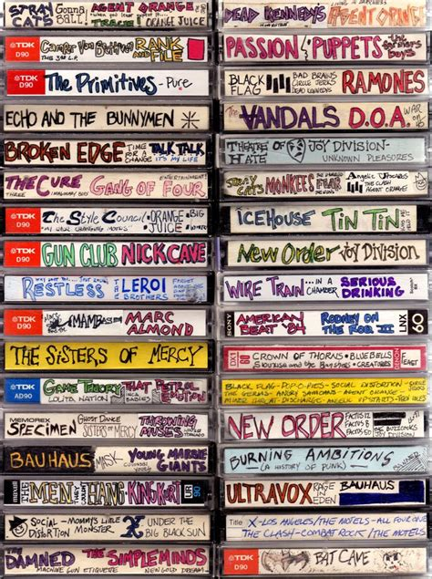 rare 80 s mix the lost art of cassette design 1980s