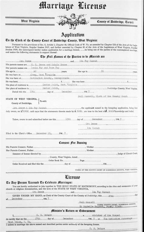 Fayette County Pa Marriage Records Ora Day Seese Ida E Fay