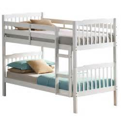 Bunk Bed Mattress Set Emin White Bunk Bed Package With Mattress And Duvet Set Next Day Select Day Delivery