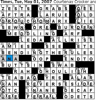pattern theme crossword clue rex parker does the nyt crossword puzzle tuesday may 1