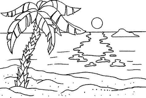 coloring page sunset printable sunset coloring pages nature coloring pages