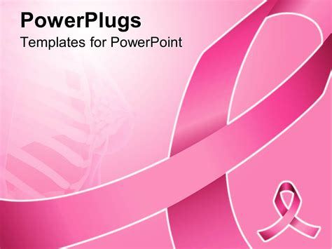 Powerpoint Template Pink Ribbon For Fighting Breast Breast Cancer Powerpoint Template