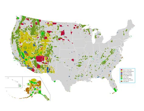 map of federally owned land in usa why are there so few archaeologists in such a large