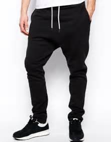 Mens Comfortable Pants Drop Crotch Black Baggy Pant Men With Cuffed Hem Buy