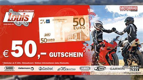 Motorrad Gutschein by Louis Motorrad Gutschein