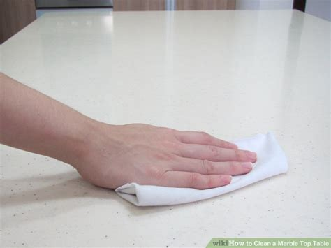 Cleaning Table by How To Clean A Marble Top Table 5 Steps With Pictures Wikihow