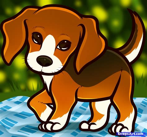how to draw puppies how to draw a beagle puppy beagle puppy step by step pets animals free