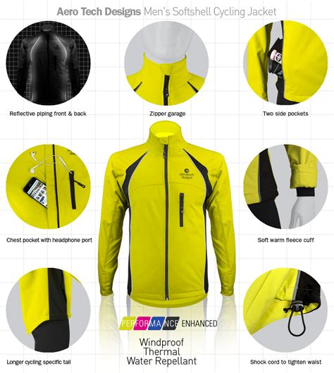 softshell cycling jacket mens aero tech designs s windproof thermal cycling jacket