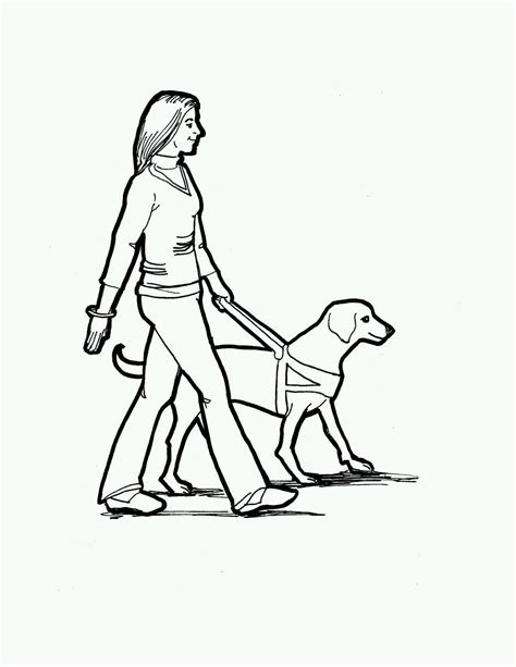 coloring pages of guide dogs service clipart clipart suggest