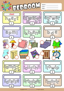 bedroom english vocabulary bedroom esl printable worksheets for kids 2