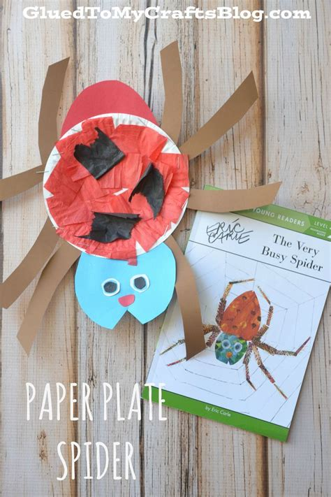 craft of paper plate spider kid craft spider craft and activities