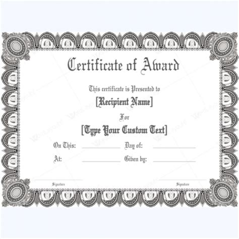 custom certificate templates award certificate templates 500 printable awards